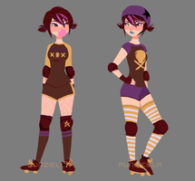 Roller Derby AU by muttonfudge