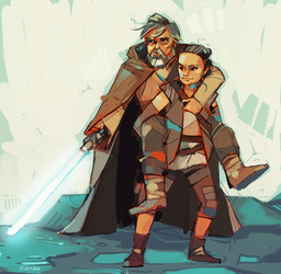 Rey-a-Day 15: Luke the Backpack by michaelfirman
