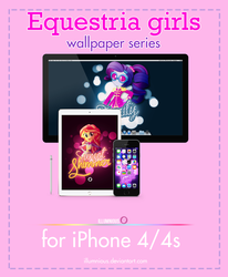 equestria girls wallpaper series iPhone 4/4s by illumnious