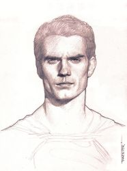 Man of steel pencil drawing by rafater