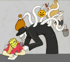 Sexual Offenderman after halloween by arcanineryu