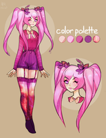 PINK HAIR ADOPT AUCTION CLOSED by miotess-adopts