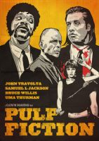 Pulp Fiction Poster by oldredjalopy