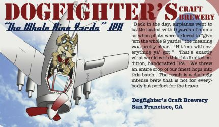 Dogfighter Beer Label by WildWanderer