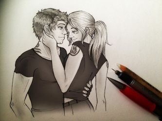 Four and Tris - Divergent by mallikinney
