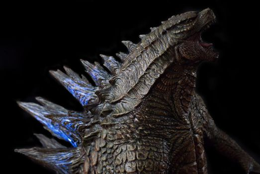 1/100th Scale Godzilla 2014 Statue up close shoot by FritoFrito