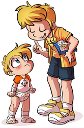 Ken and Calibur, role reversal - By Tato by The-Crusader-Network