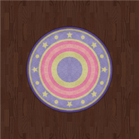 Russet Flooring And Starry Rug (mauve) by Rosemoji