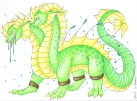 Day 6 - Multi Headed Dragon by DeathTheDragon