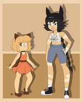 Human Tiger's Eye and Catseye by colorfulkitten