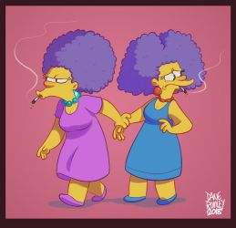 Patty and Selma 2k18 by Morpheus306