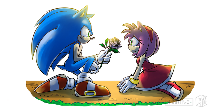 collab (?) sonamy in sonic ep 52 by Pikative