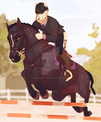 show jumping by diegson