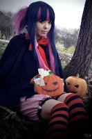 Stocking pumpkin halloween by RinDia4