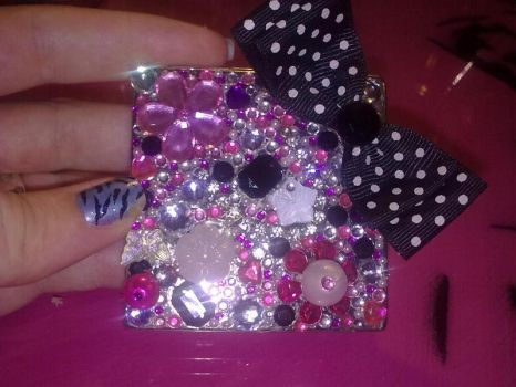 Rhinestone Mirror by chaotickitty