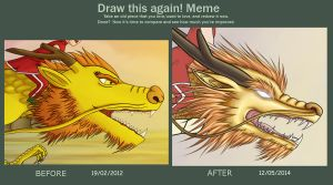 Before After Meme [coloured] by xiaomil