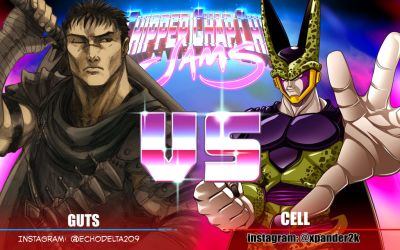 CCC Collab Jam - Hero VS Villain - Guts VS Cell by arsenalgearxx