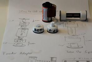 Project:  35mm adaptors for 6x7 MF film back by Roger-Wilco-66