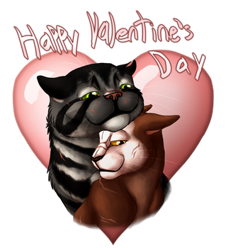Nightfern and Wetwhisker for Valentine's Day by Jayie-The-Hufflepuff