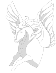 Pegasus Lineart by SaddlePatch