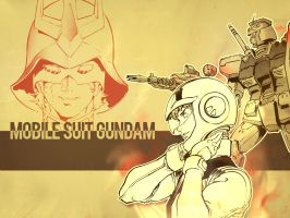 Amuro and Char by TurnAPickens