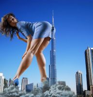 Giantess Mega Elena from Legs Emporium by Cinematic-GTS