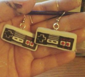 NES Controller Earrings by gunslingergal