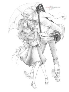 Howl and Sophie by StickyLeaf