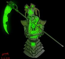 Irritated Necron by earltheartist