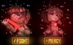 Chara and Frisk by JH-Animations