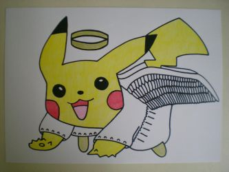 Angel Pikachu by charlenequek