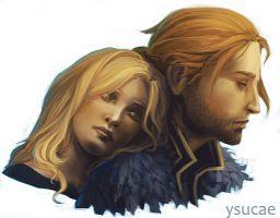 Sad couple by ysucae