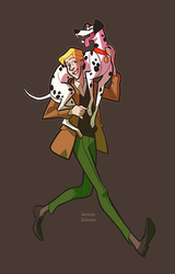 Roger and Pongo by oxboxer