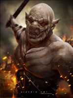 Azog From The Hobbit by sixfrid