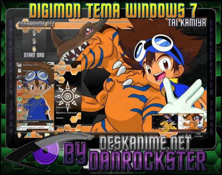 Tai Kamiya Theme Windows 7 by Danrockster