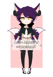 custom adoptable for warriorwolves16 by reojin
