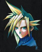 FFVII CLOUD painting. To be sold on 26th March by Peterpastel9