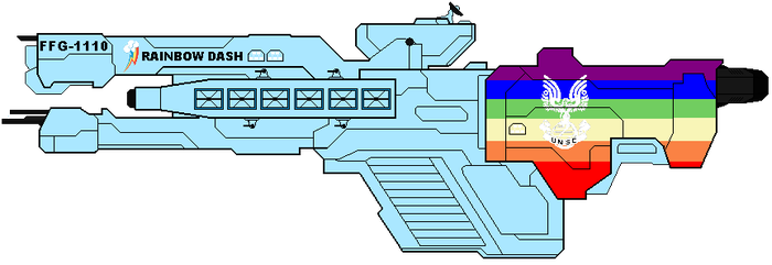 UNSC Rainbow Dash by EyeInTheSky118