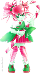 Candy Cane Inkling by Ghiraham-Sandwich