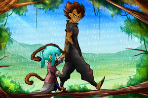 DBZ - Au Story: Downfall - A walk in the trees by RedViolett