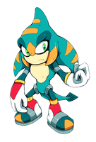 Sonic Legacy - Ordo the Salamander (Chaos Zero) by Cylent-Nite