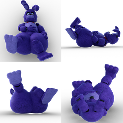 Bonnie and his inflated butt [Four Views] by DM-Artworks