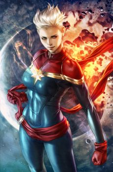 Captain Marvel by Artgerm