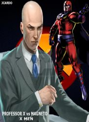 Professor X Vs Magneto by jcardo
