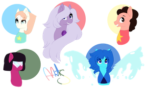 Steven Universe Ponyfications by AyoArts