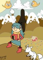 Hilda in the wilderness by hithereflamingo