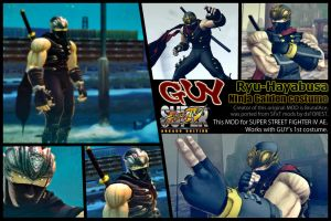 SSF4AE GUY - Ryu Hayabusa costume MOD by dsFOREST