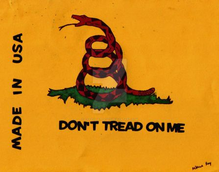 Variation on the Gadsden Flag by Raiderhater1013