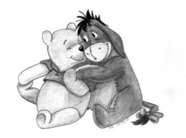 Winnie the Pooh and Eeyore by KerstinSchroeder