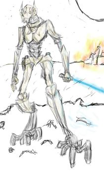 General Grievous Sketch by KangarooJess135